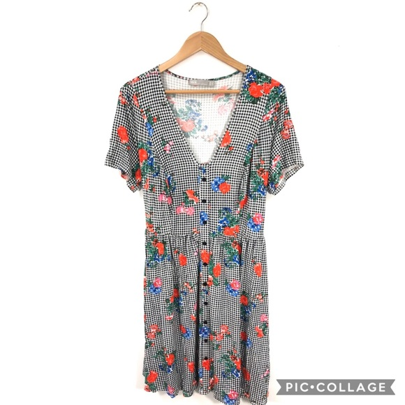 ASOS Dresses & Skirts - ASOS Gingham Floral Dress